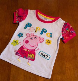 Peppa Pig - Dark Pink Short Sleeve Shirt