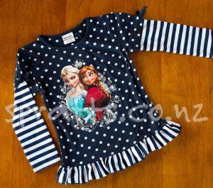 Frozen Stripe & Spot - Long Sleeve Shirt