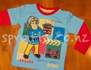 FireMan Sam - Light Blue Long Sleeve Shirt
