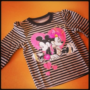 Minnie/Mickey Mouse - Striped Shirt