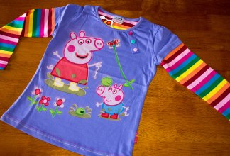 Peppa Pig Purple Long Sleeve Top