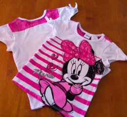 Minnie Mouse - Knotted Sleeve Shirt (Front & Back View