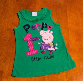 Peppa Pig - Green Singlet Sleeve Top