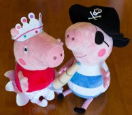 Princess Peppa Pig & Pirate George Pig - Pair