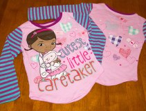 Doc McStuffins - Long Sleeve Shirt - (Front & back Views)