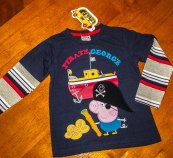 George Pig - Stripe/Long Sleeve/Pirate Shirt