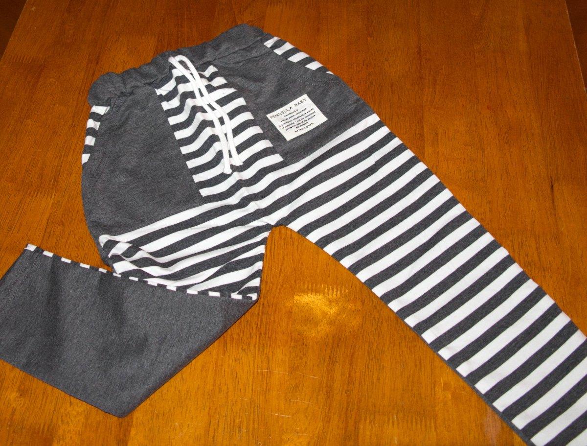Grey Stripe Harem Pants