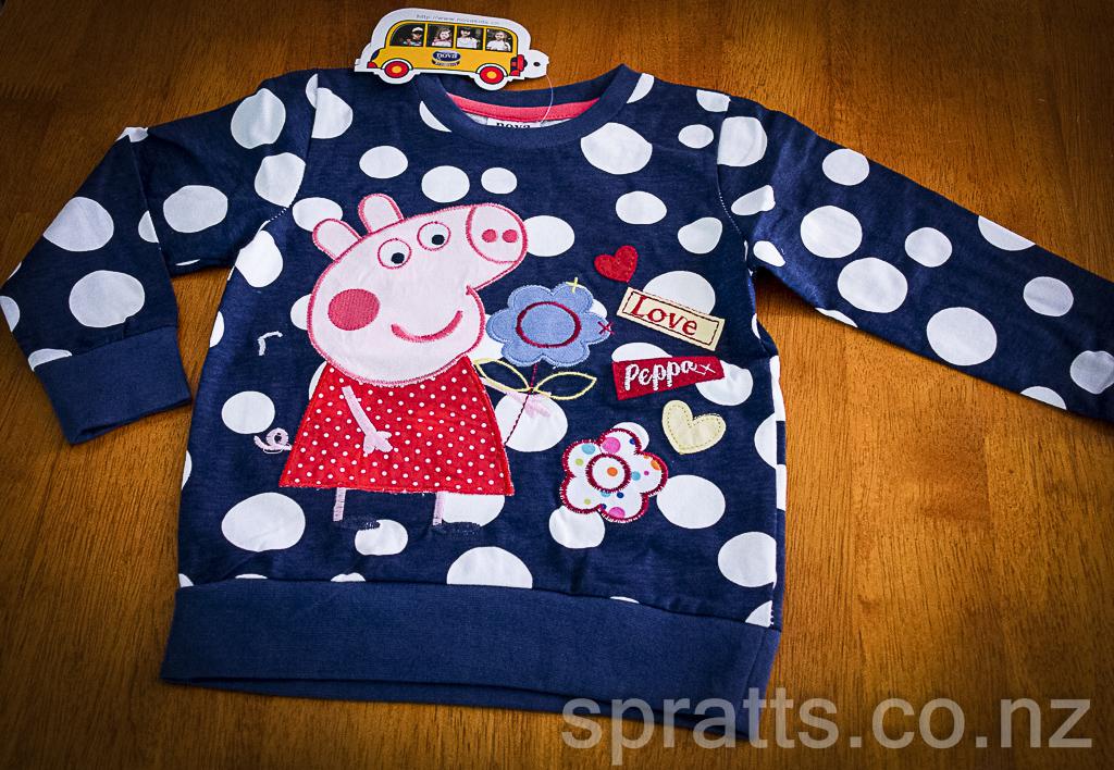 Peppa Pig - navy & spot top