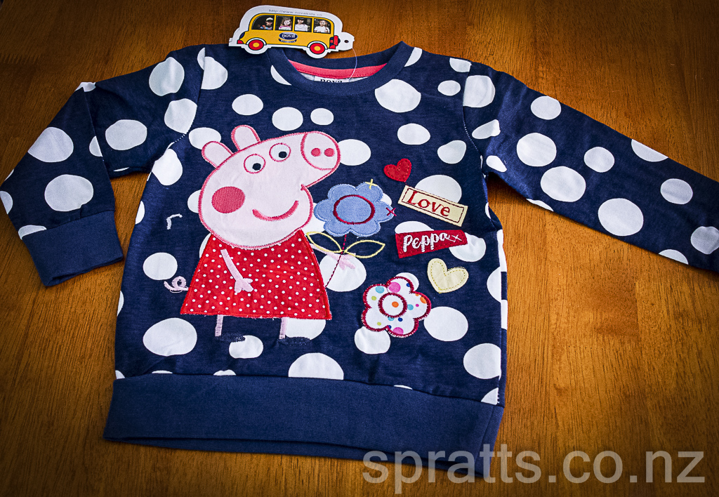 Peppa Pig - navy & spot top